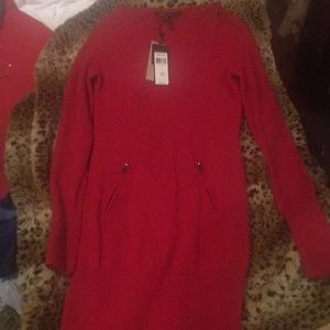 BCBGMaxAzria Dresses - BCBG RED CASHMERE DRESS